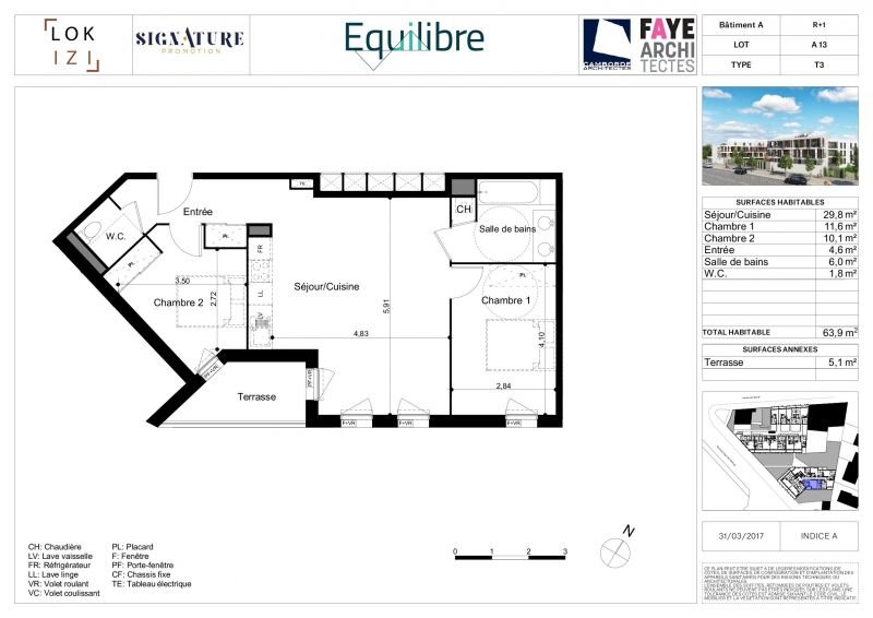 appartement neuf t3 de 64m r s equilibre a13 par lokizi. Black Bedroom Furniture Sets. Home Design Ideas