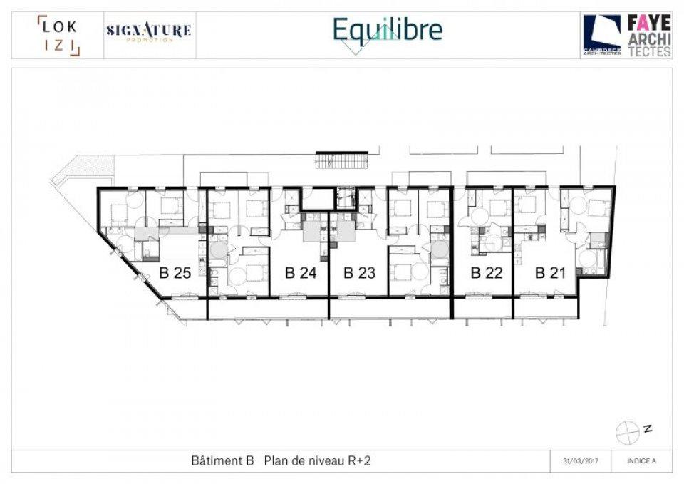 appartement neuf t2 de 45m r sidence equilibre b22 par lokizi. Black Bedroom Furniture Sets. Home Design Ideas