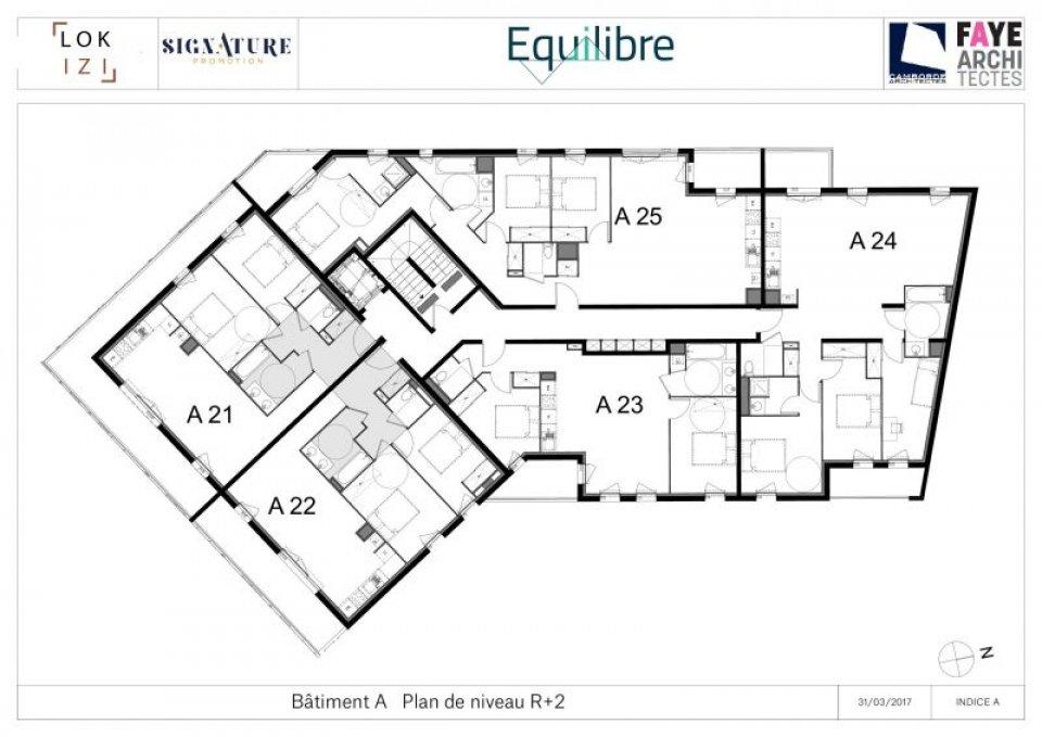 appartement neuf t4 de 93 2m r s equilibre a24 par lokizi. Black Bedroom Furniture Sets. Home Design Ideas