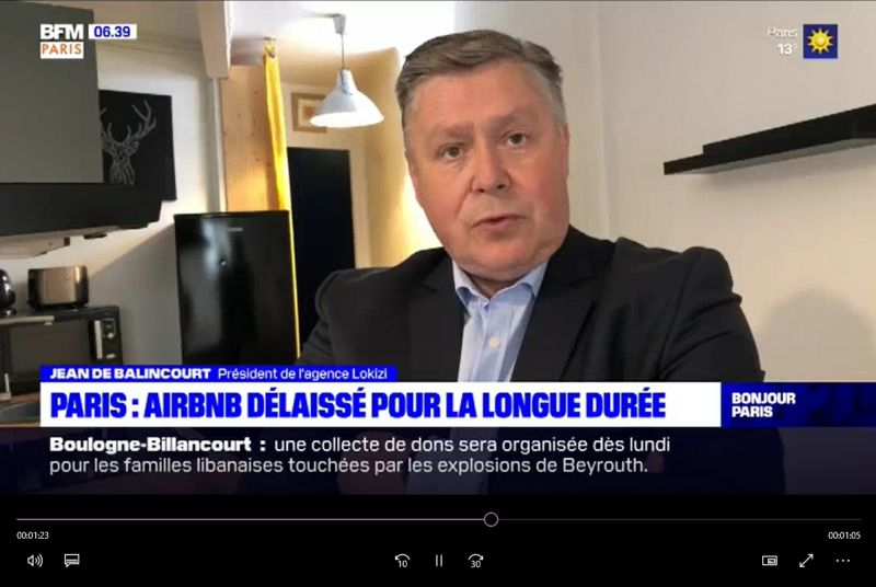 BFM Paris (7 sept. 2020) Interview Jean de Balincourt (LOKIZI)